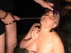 Chunky Punk Teen Drinks Piss And Gets Fucked