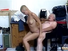 Skinhead Girl Fucks An Older Guy And Really Loves It
