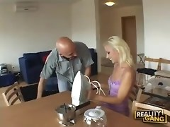 Pretty Blonde Teen Gives An Older Man Some Fun
