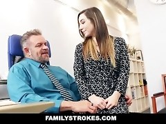 FamilyStrokes - Part Time Step Daughter Becomes Full-Time Tart